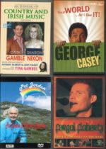 A collection of 5 DVD all unsigned. Jimmy Cricket Live pull your seats forwards. George Casey your