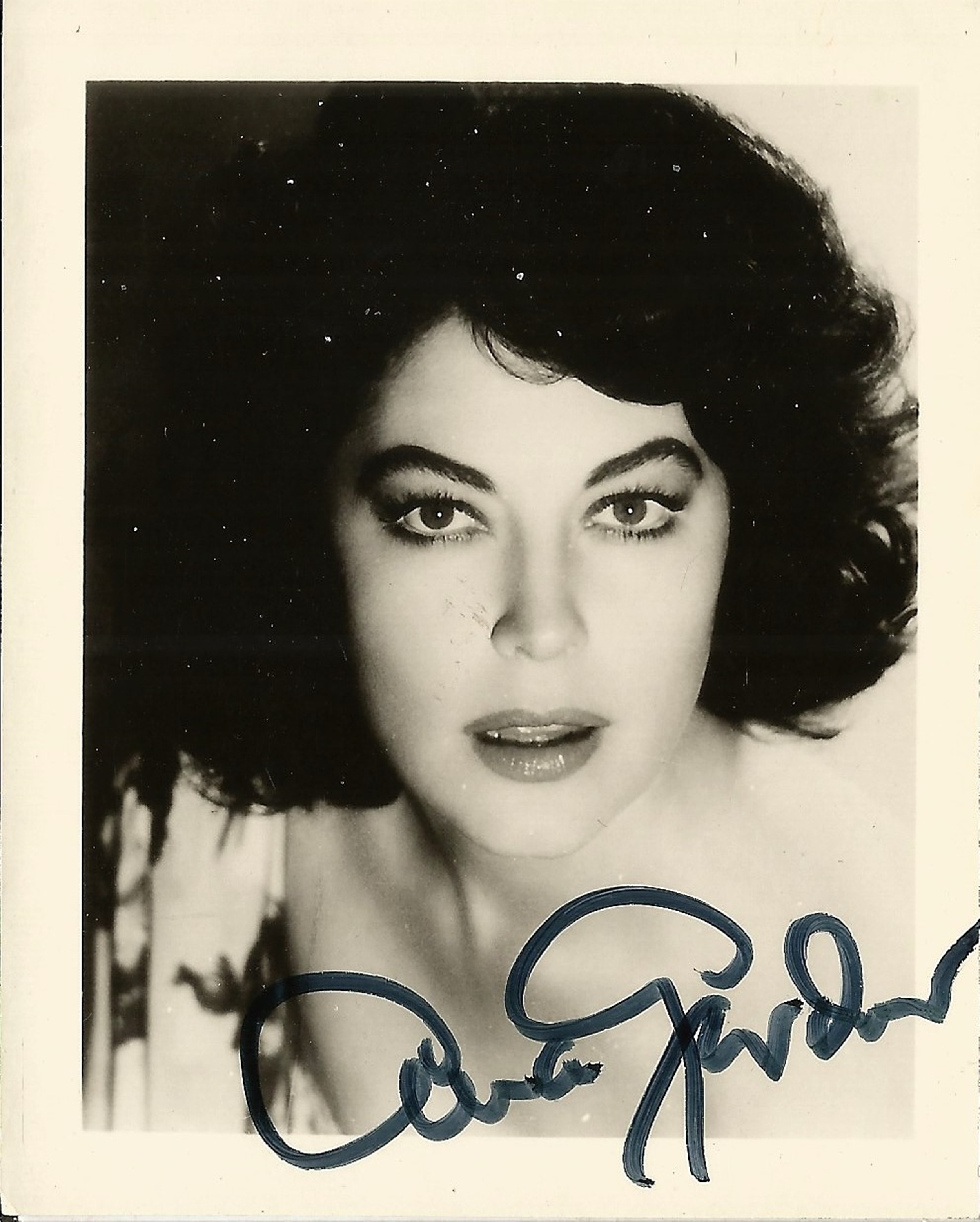 Ava Gardner signed 4x3 black and white photo. Good condition. All autographs come with a Certificate