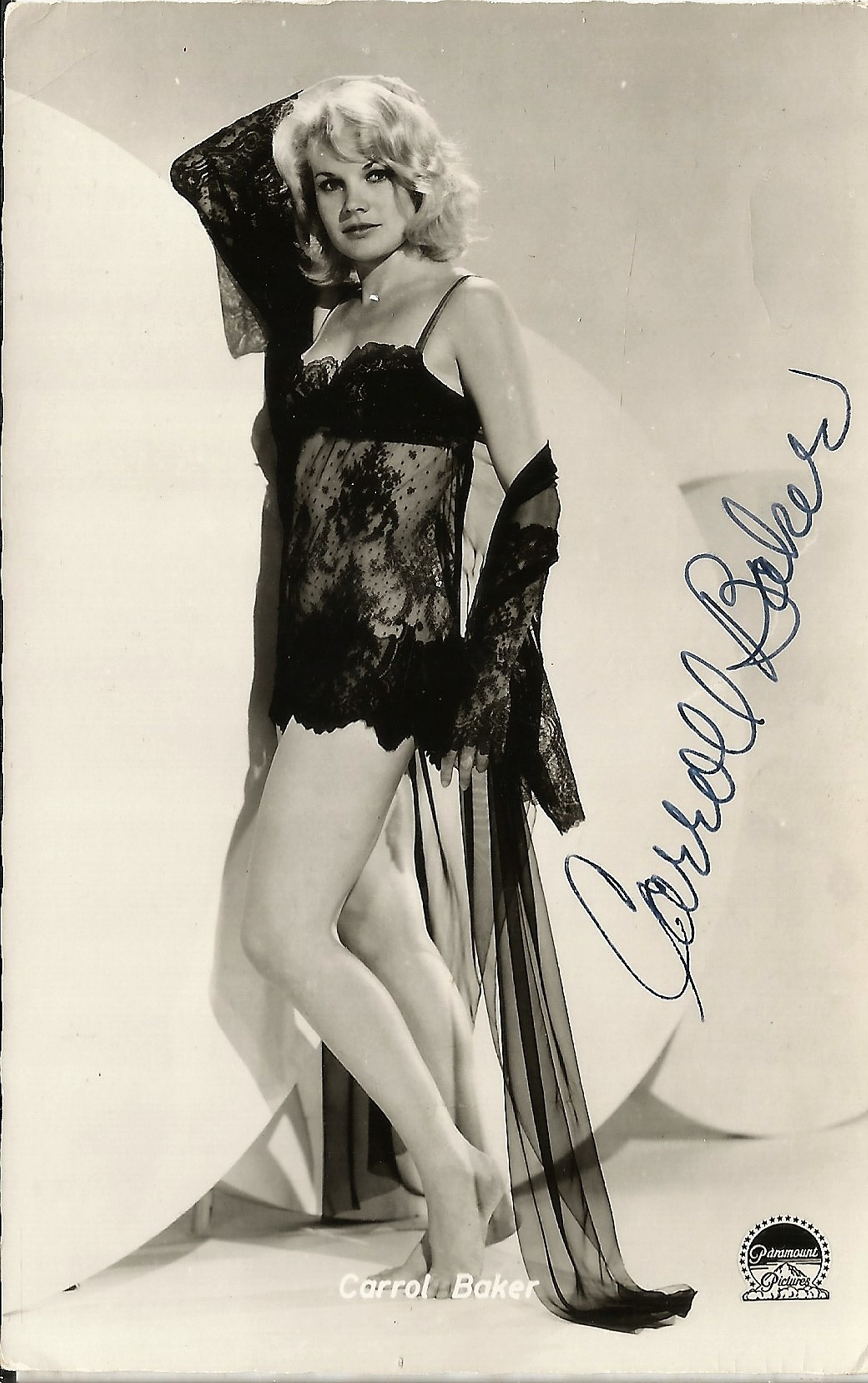 Carroll Baker signed 5x3 black and white photo. Good condition. All autographs come with a