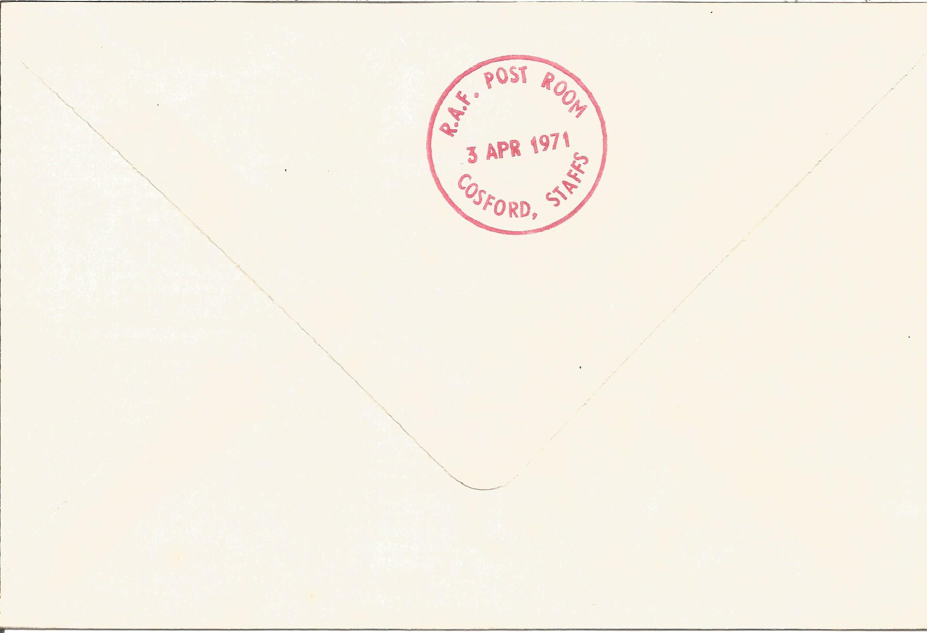 RAF Cosford First RAF Rocket mail 3rd April 1971 Unflown FDC SC19/10. Printers Colour Trials with - Image 2 of 2