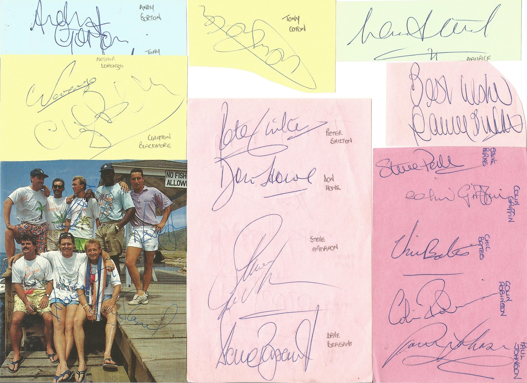 Assorted signature piece collection. 15+ included. Some of names included are Alan Rogers, Tony - Image 3 of 5