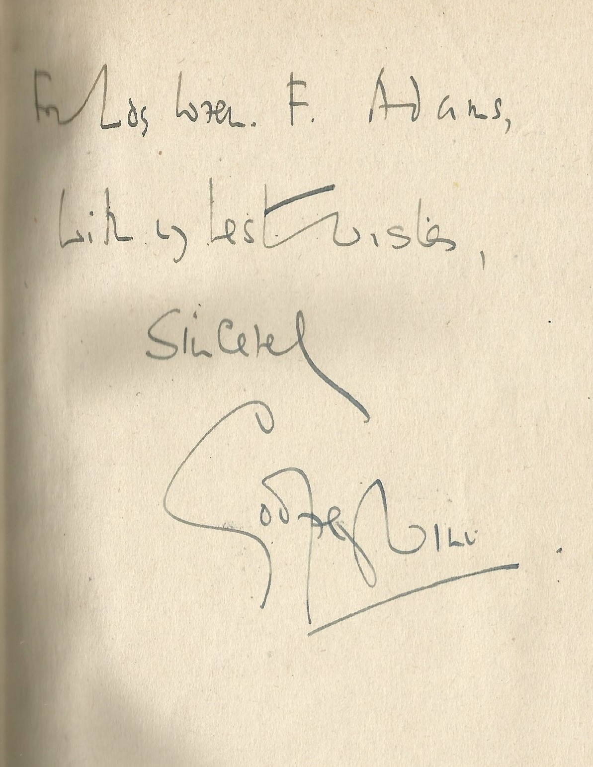 Godfrey Winn. On Going To The Wars. WW2 hardback book. Showing signs of age. Dedicated. Signed by - Image 2 of 3