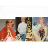 Doris Day signed small photo collection. 3 in total. Good condition. All autographs come with a