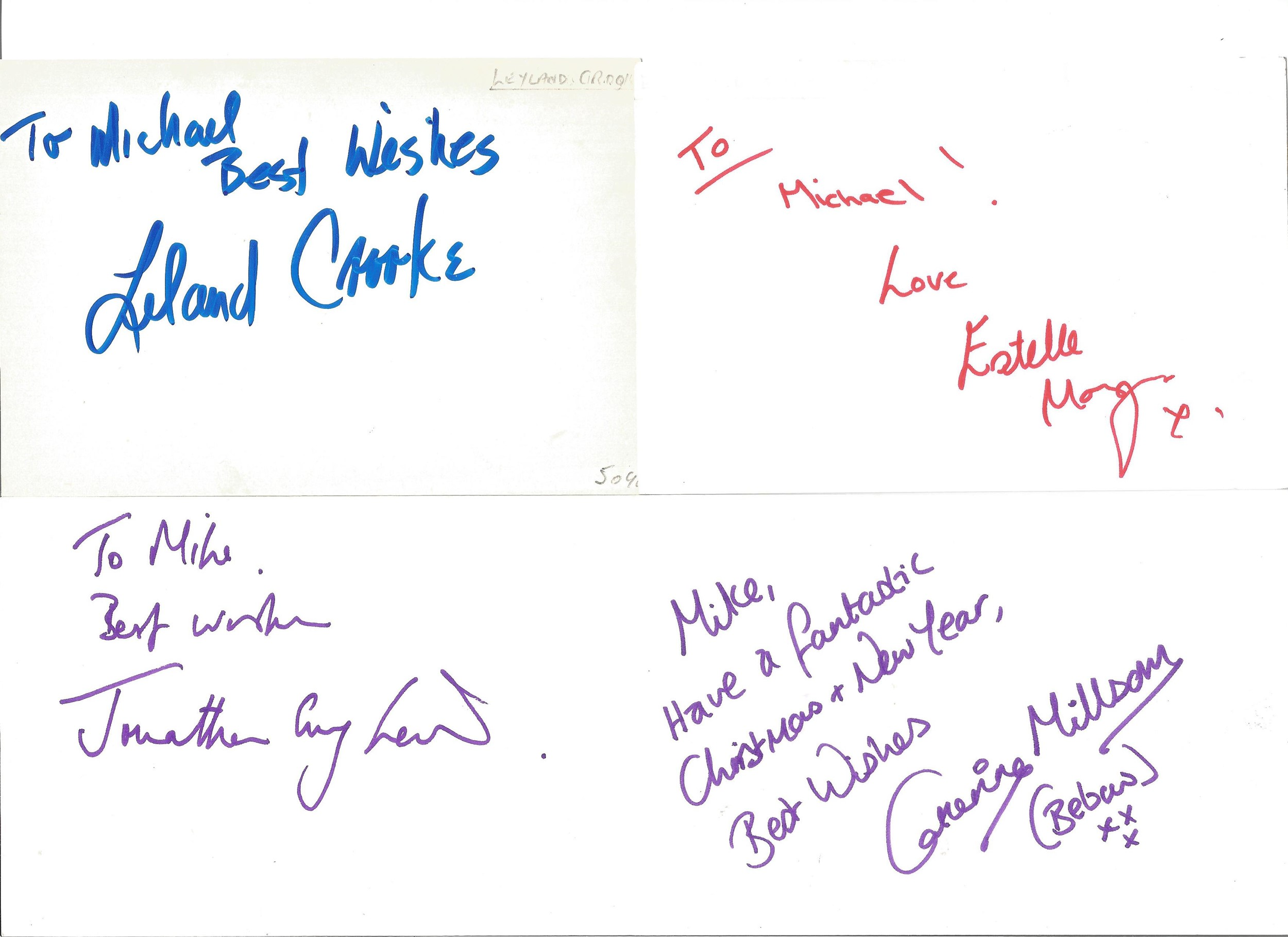 Collection of 50 Actor and Actress Signed 6 x 4 White Cards, Including Peter McGovern, Paul - Image 3 of 4
