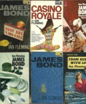 A Collection of 20 James Bond Paperbacks by Ian Fleming, Includes From Russia With Love x 3, You