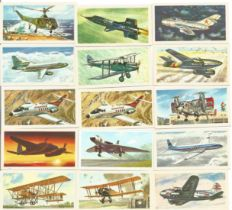 History of Aviation collectors cards 62 cards from Brooke Bond Tea, some duplicates see images. Good