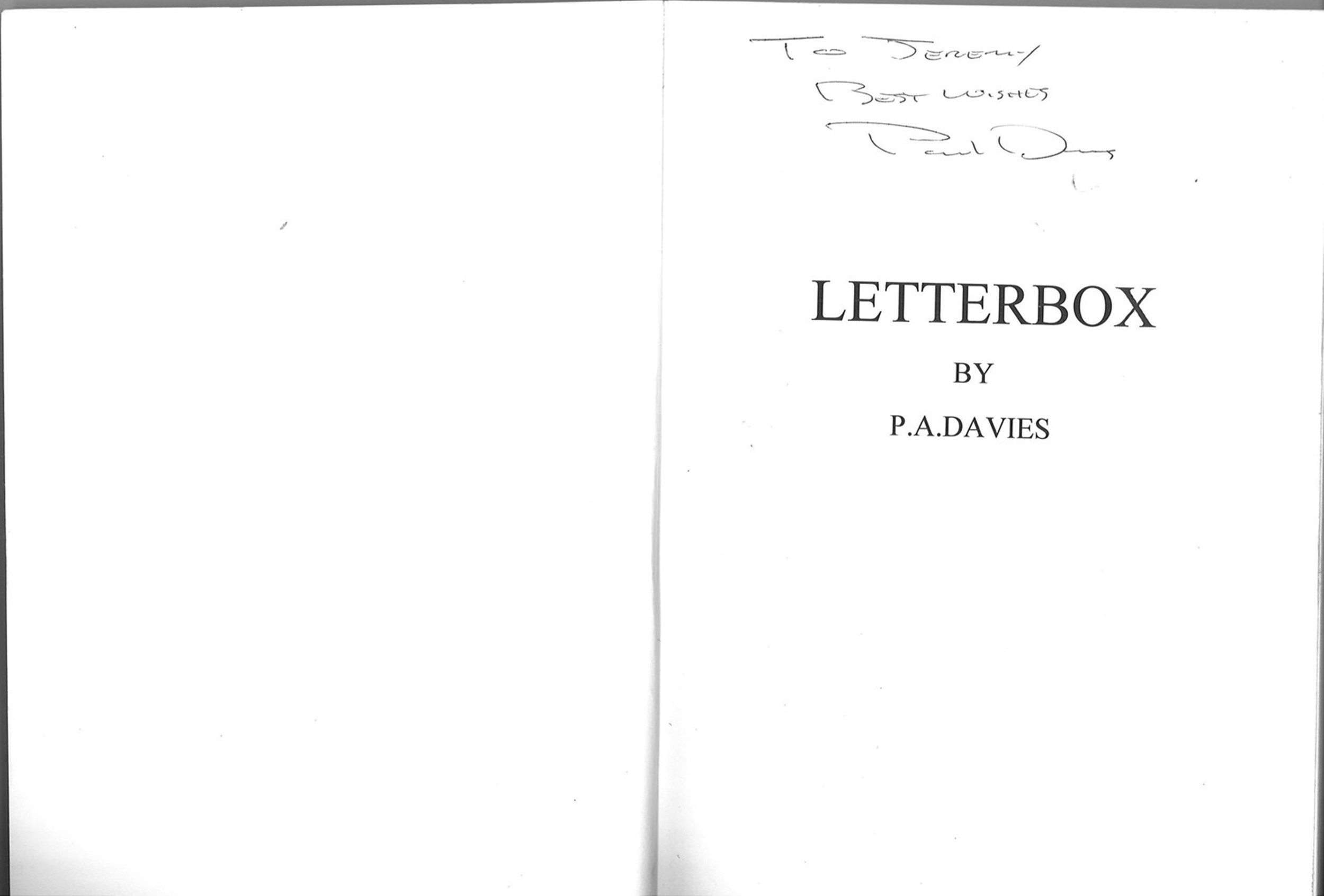 5 signed books. P A Davies signed Letterbox titled book. Sean Weafer signed business coaching - Image 5 of 5