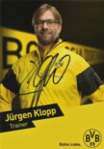Jurgen Klopp signed 6x4 colour promo photo. German professional football manager and former player