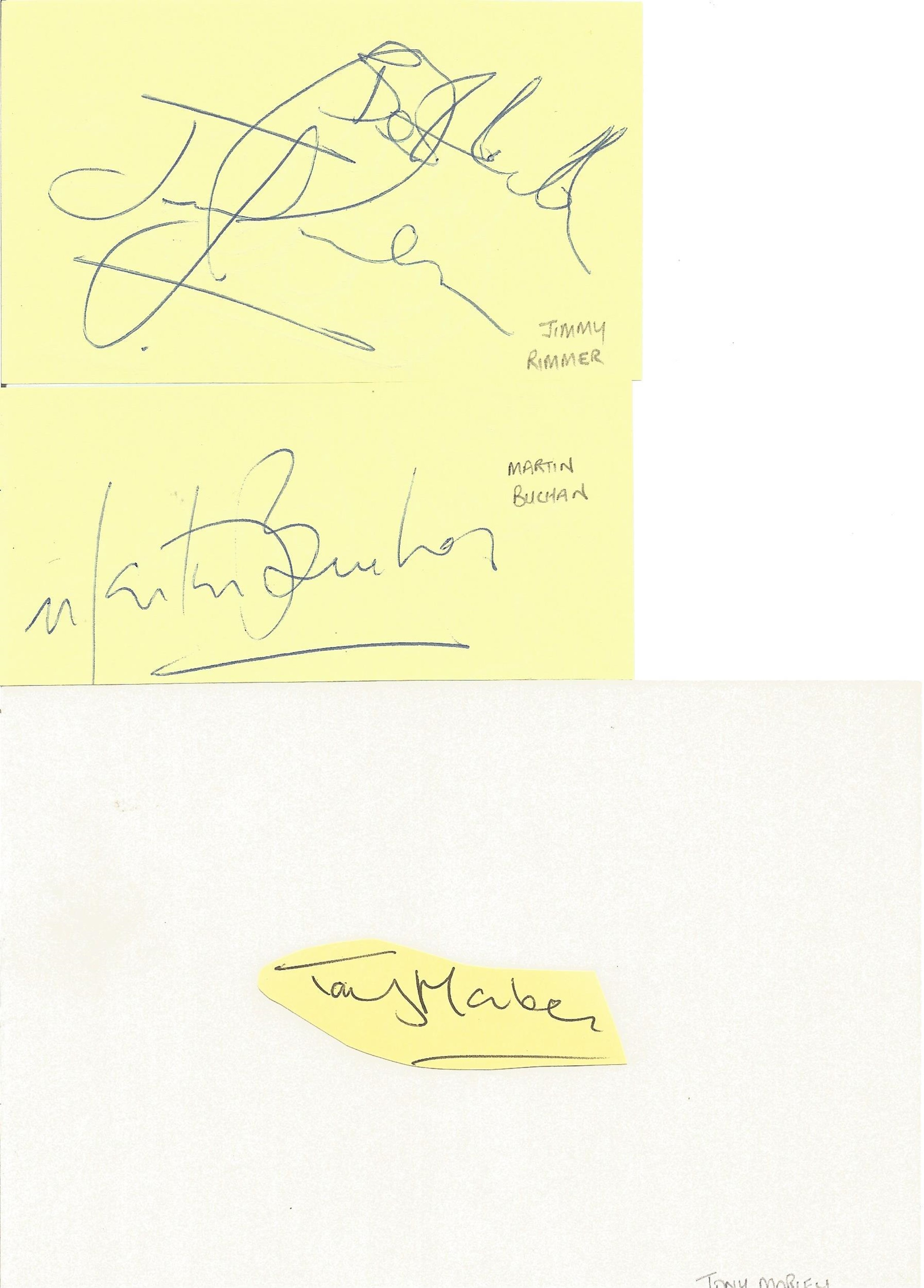 Assorted signature piece collection. 15+ included. Some of names included are Alan Rogers, Tony - Image 5 of 5