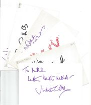 Bargain collection 16. 50 Actor and Actress signed cards from in person collector unsorted. Signed 6