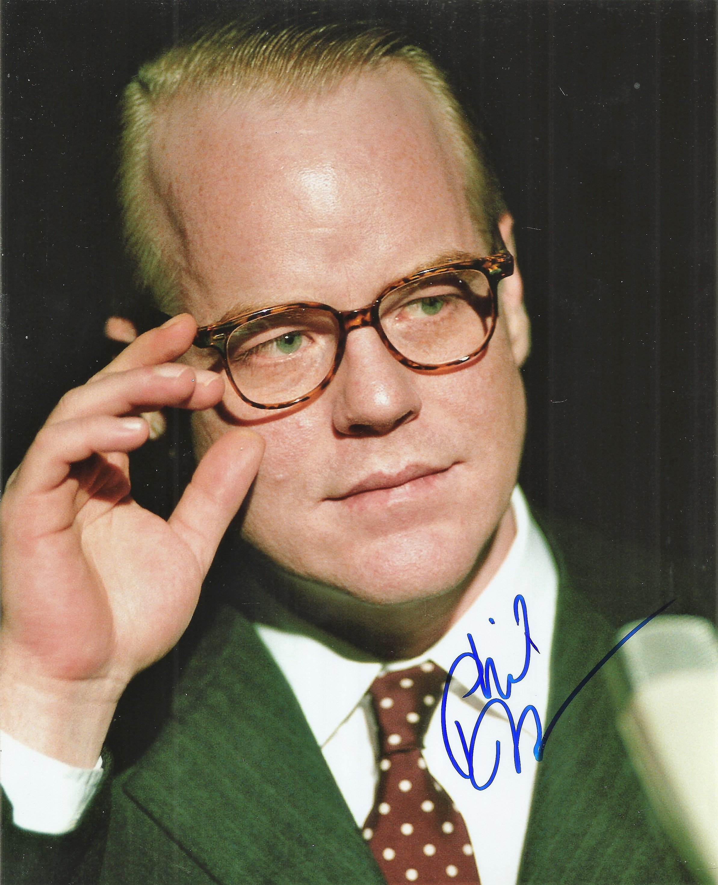Philip Seymour Hoffmann signed 10x8 colour photo. Good condition. All autographs come with a