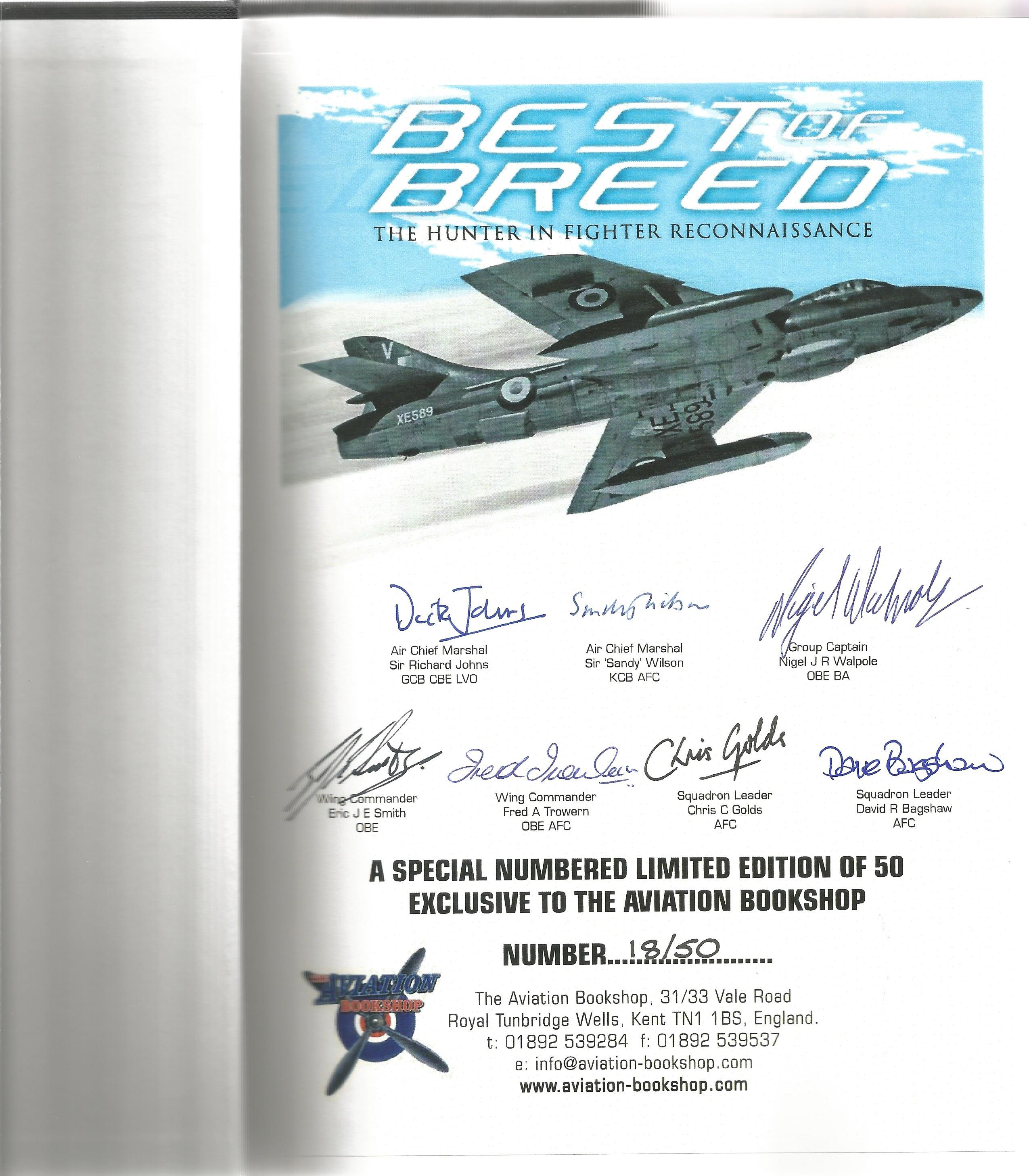 Nigel Walpole. Best Of Breed. The Hunter In Fighter Reconnaissance. A First Edition Multi Signed - Image 2 of 3