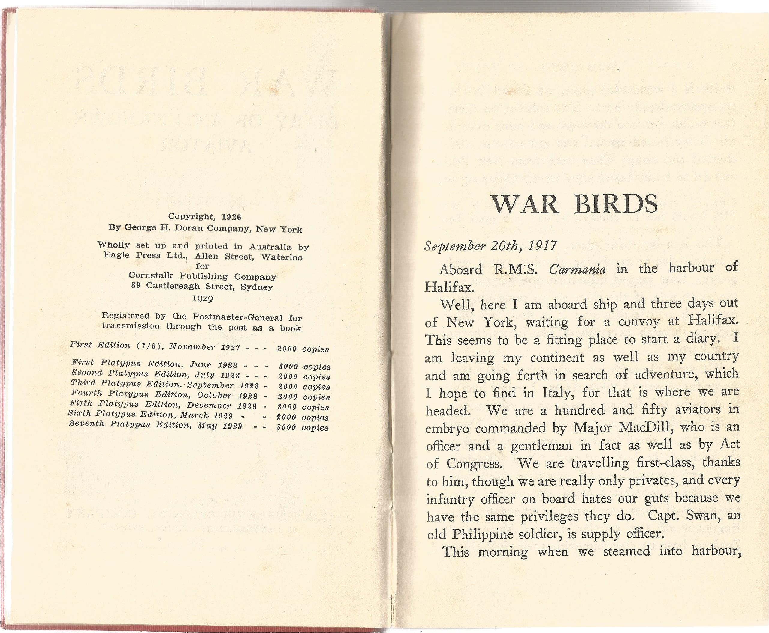 War Birds, Diary Of An Unknown Aviator. Signed by Air Vice Marshal Johnnie Johnson, with three - Image 3 of 3