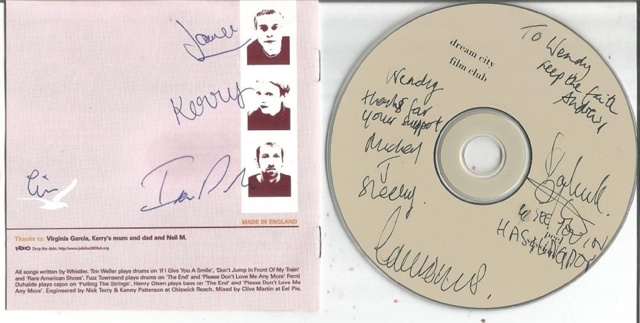 6 Signed CDs Including Ruarri Joseph Both Sides of the Coin Disc Included, Belvedere Faded - Image 3 of 3