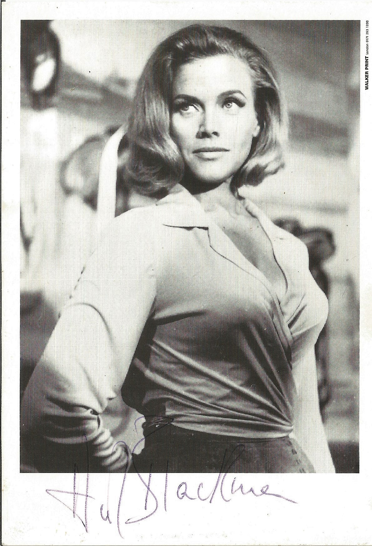 Honor Blackman signed 6x4 black and white photo. Good condition. All autographs come with a