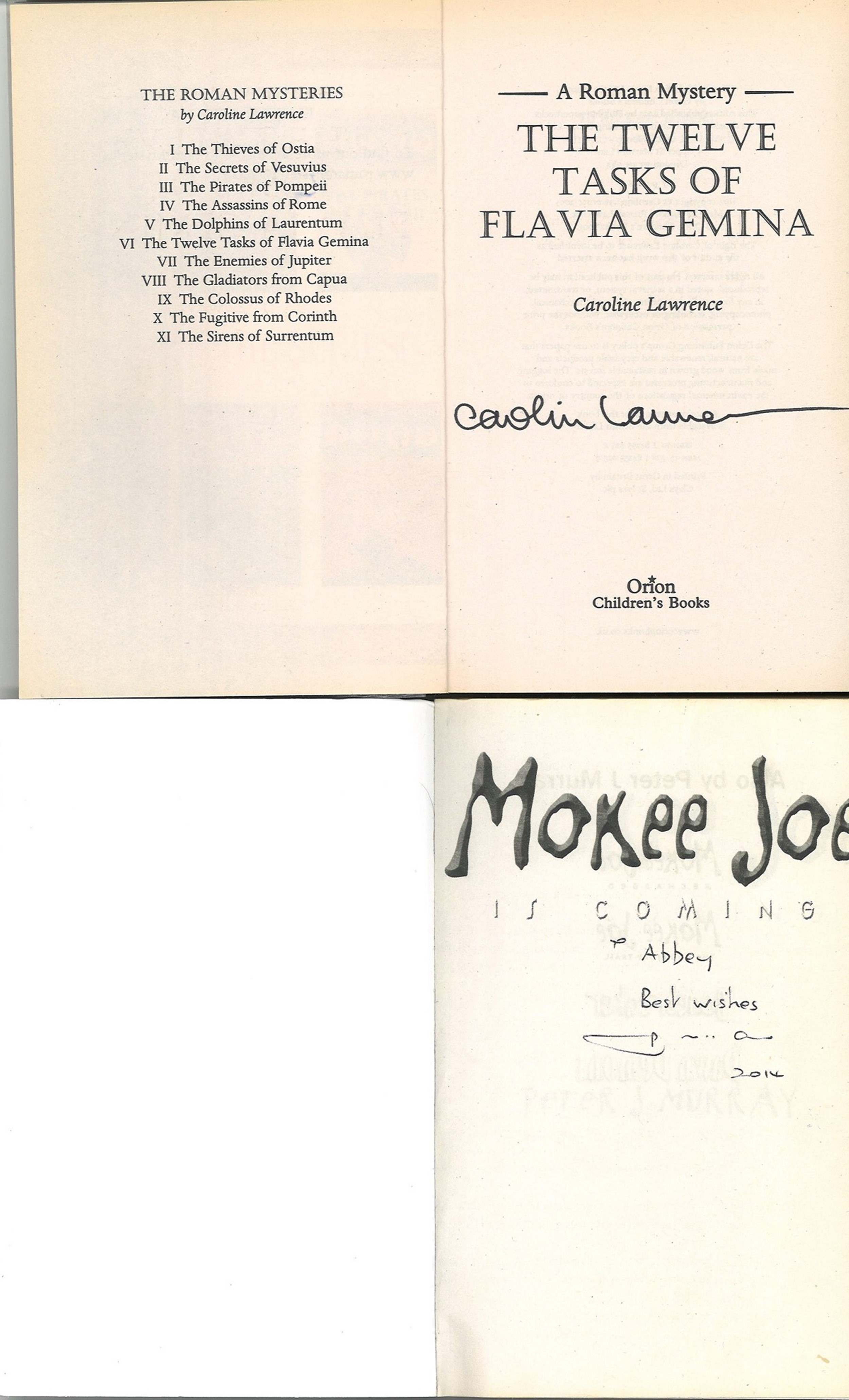 5 Signed Paperback Books, The Hunters Handbook, The Tenth Circle, Monkey Joe, The Sirens of - Image 4 of 6