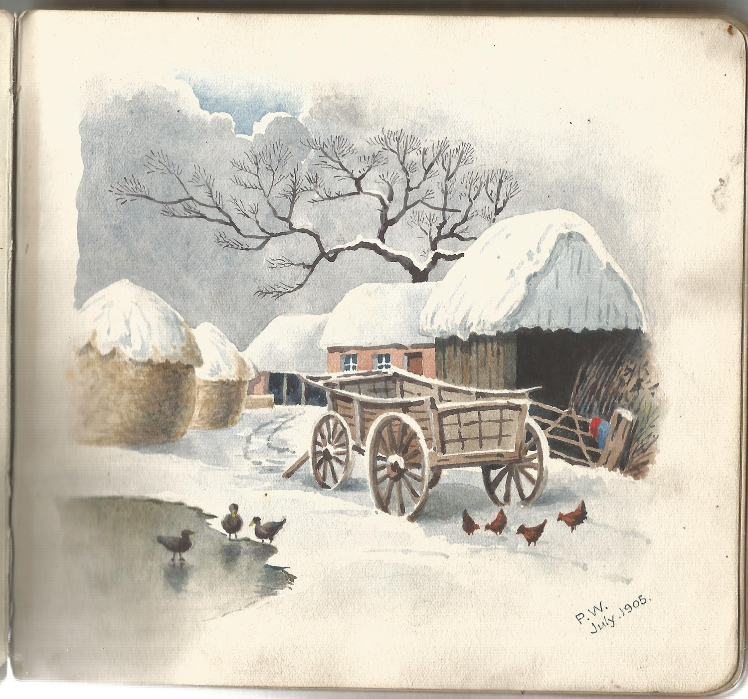 Autograph book collection includes over 20 vintage sketches, doddles and postcards may yield good - Image 3 of 4