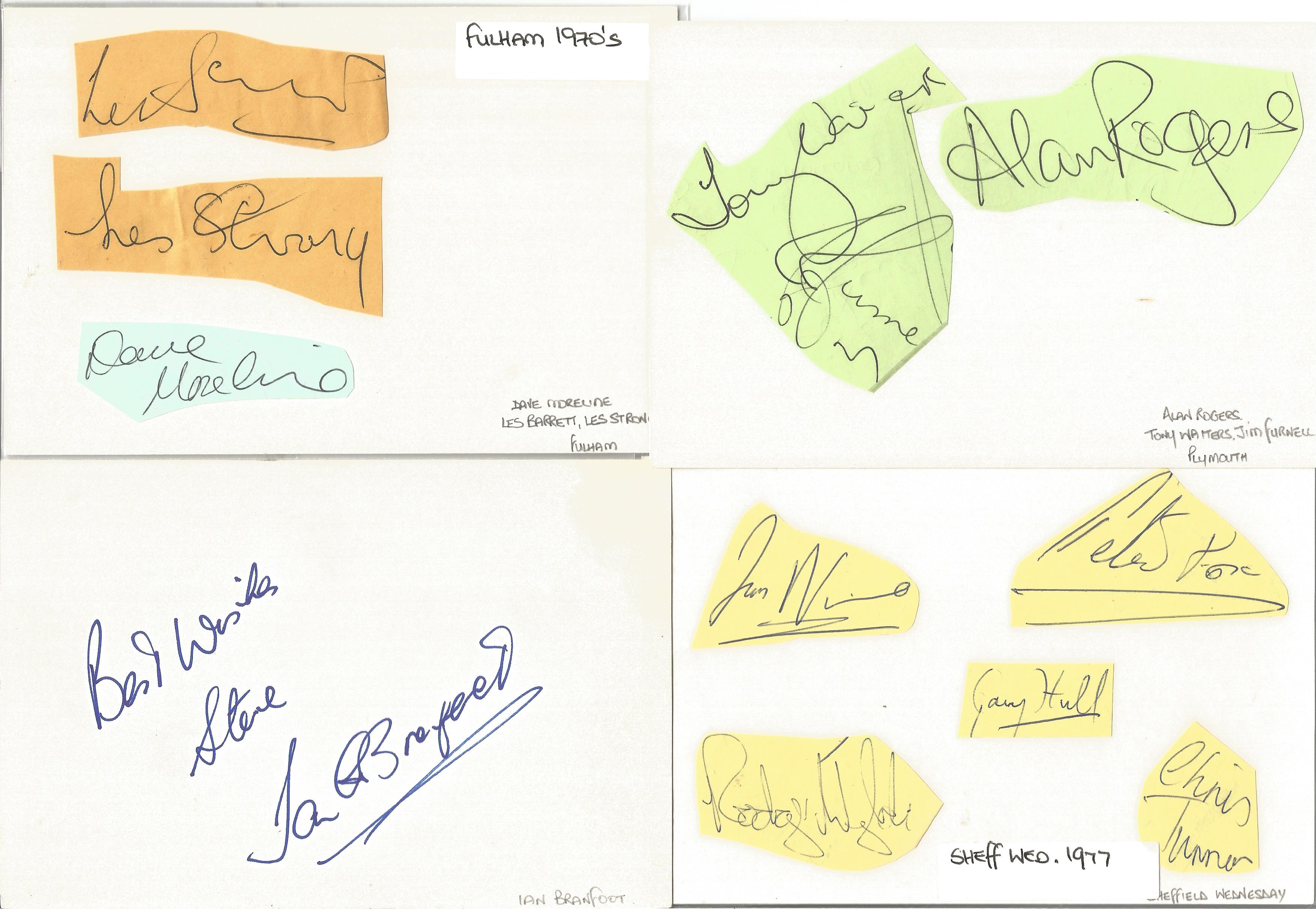 Assorted signature piece collection. 15+ included. Some of names included are Alan Rogers, Tony - Image 2 of 5