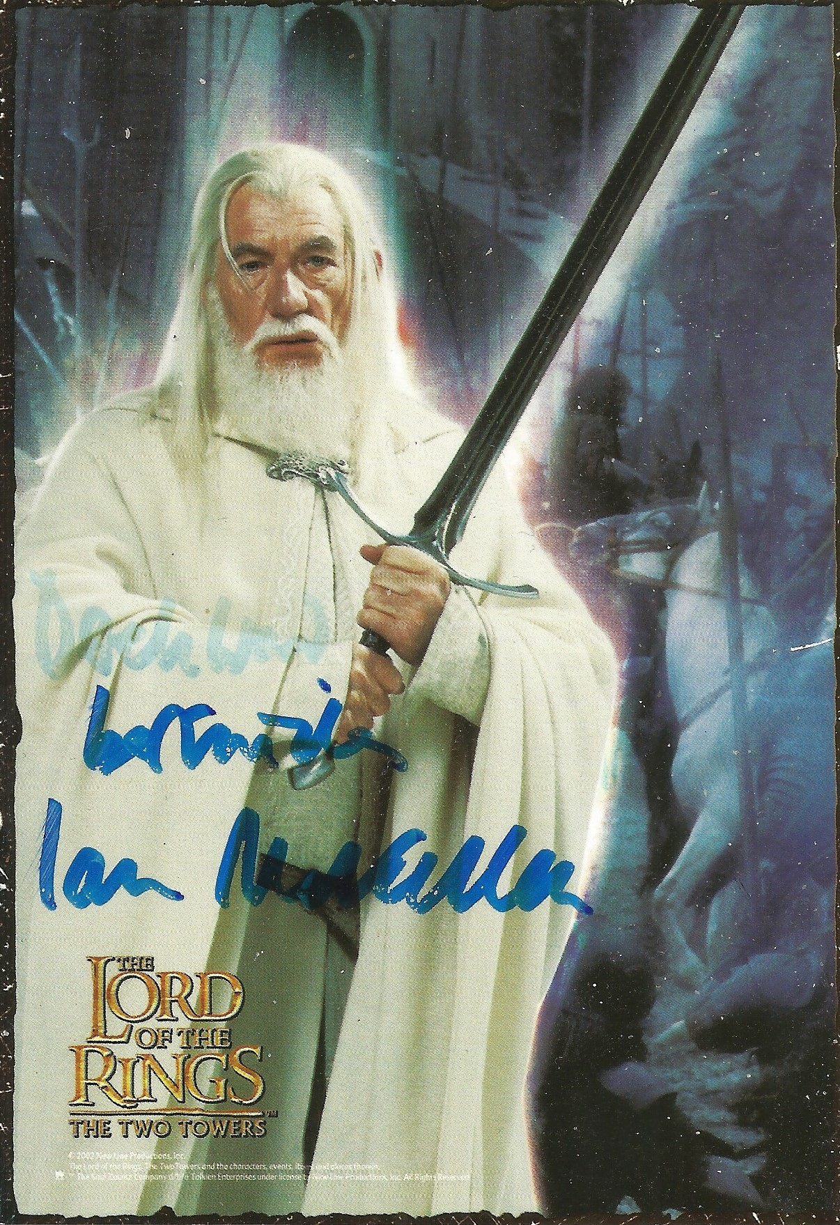 Ian McKellen signed 6x4 colour Lord of the Rings postcard. Good condition. All autographs come