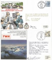 Signed and Flown FDCs plus vintage Airmail celebrating First Official Flight Vancouver Montreal
