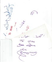 Bargain collection 10. 50 Actor and Actress signed cards from in person collector unsorted. Signed 6