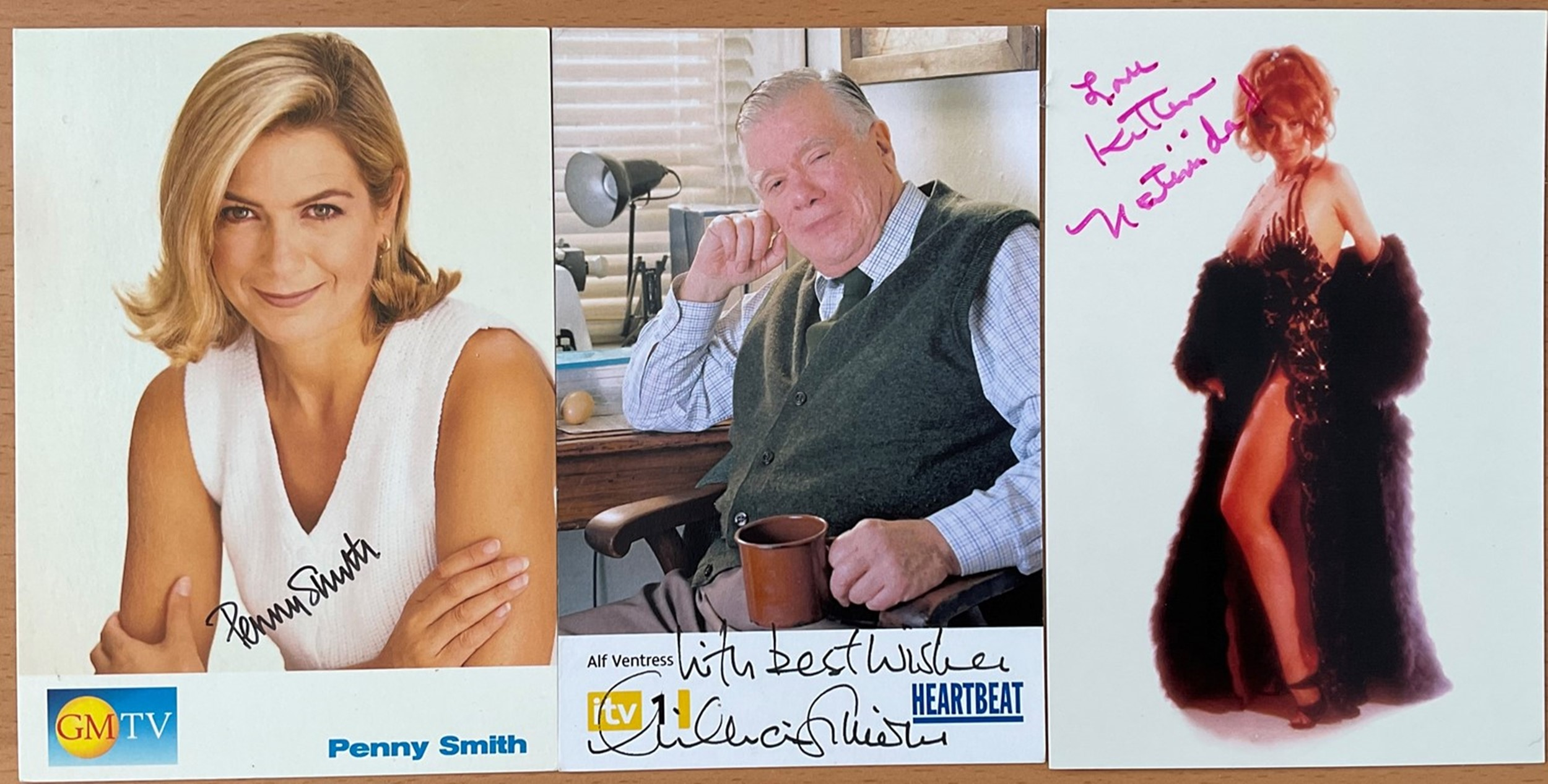 7 Signed TV and Film Stars Images Approx 6 x 3 Postcard Sized, Including Debra A Stevenson, Amanda - Image 2 of 2