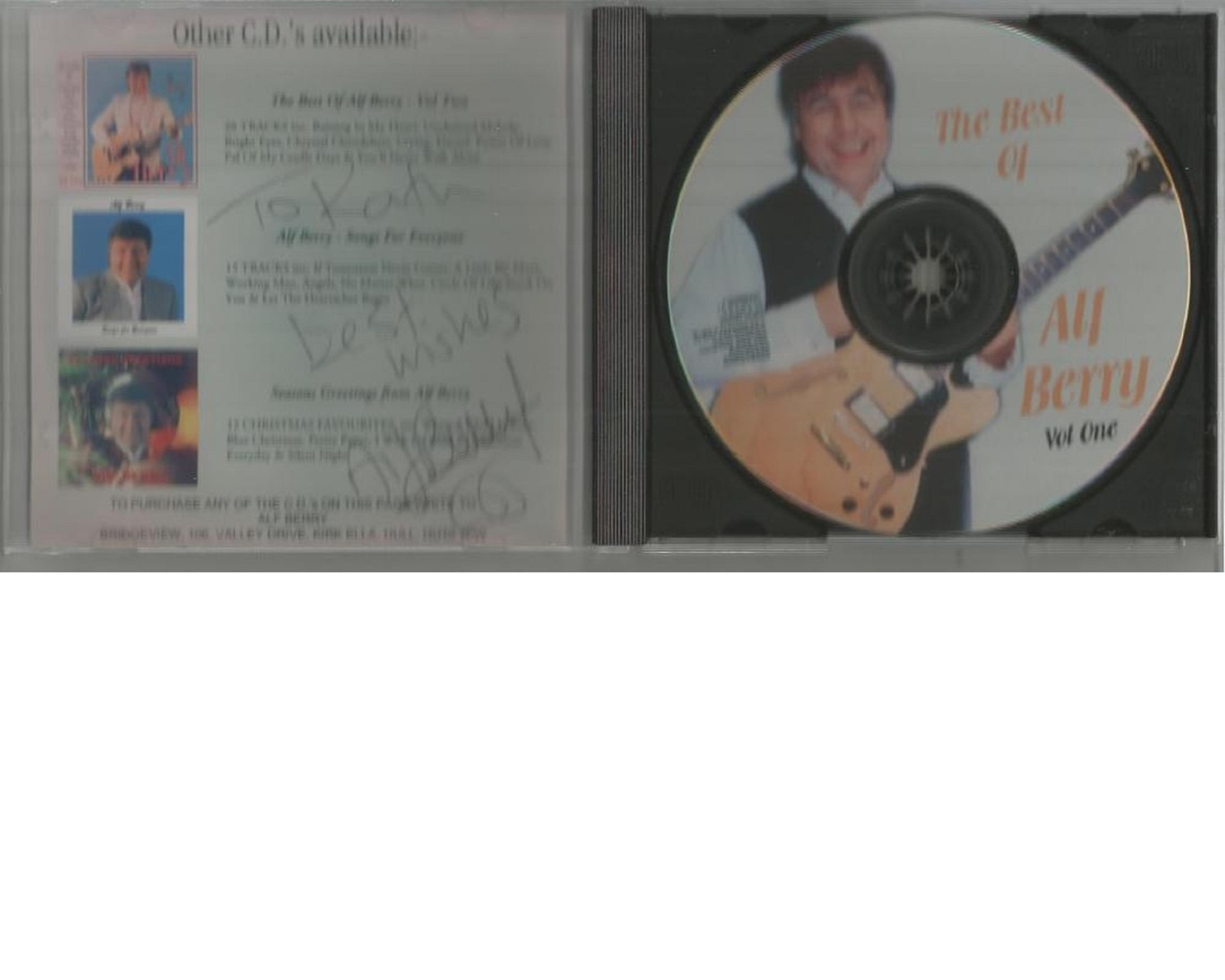 6 Signed CDs Including Michael Graham Inspirations Disc Included, Hazel O'Connor The Bluja Project