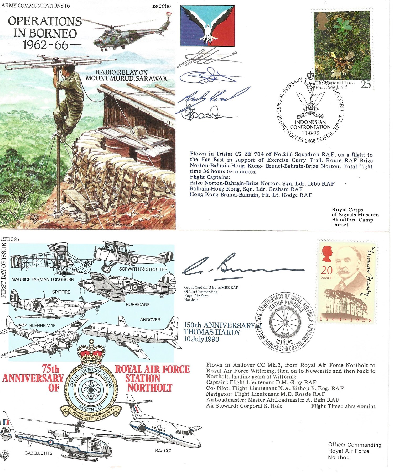 Collection of 5 Flown FDC, 4 Signed One of which Multi Signed JS CC 10, Includes RFDC 85, JSF 12, - Image 2 of 3