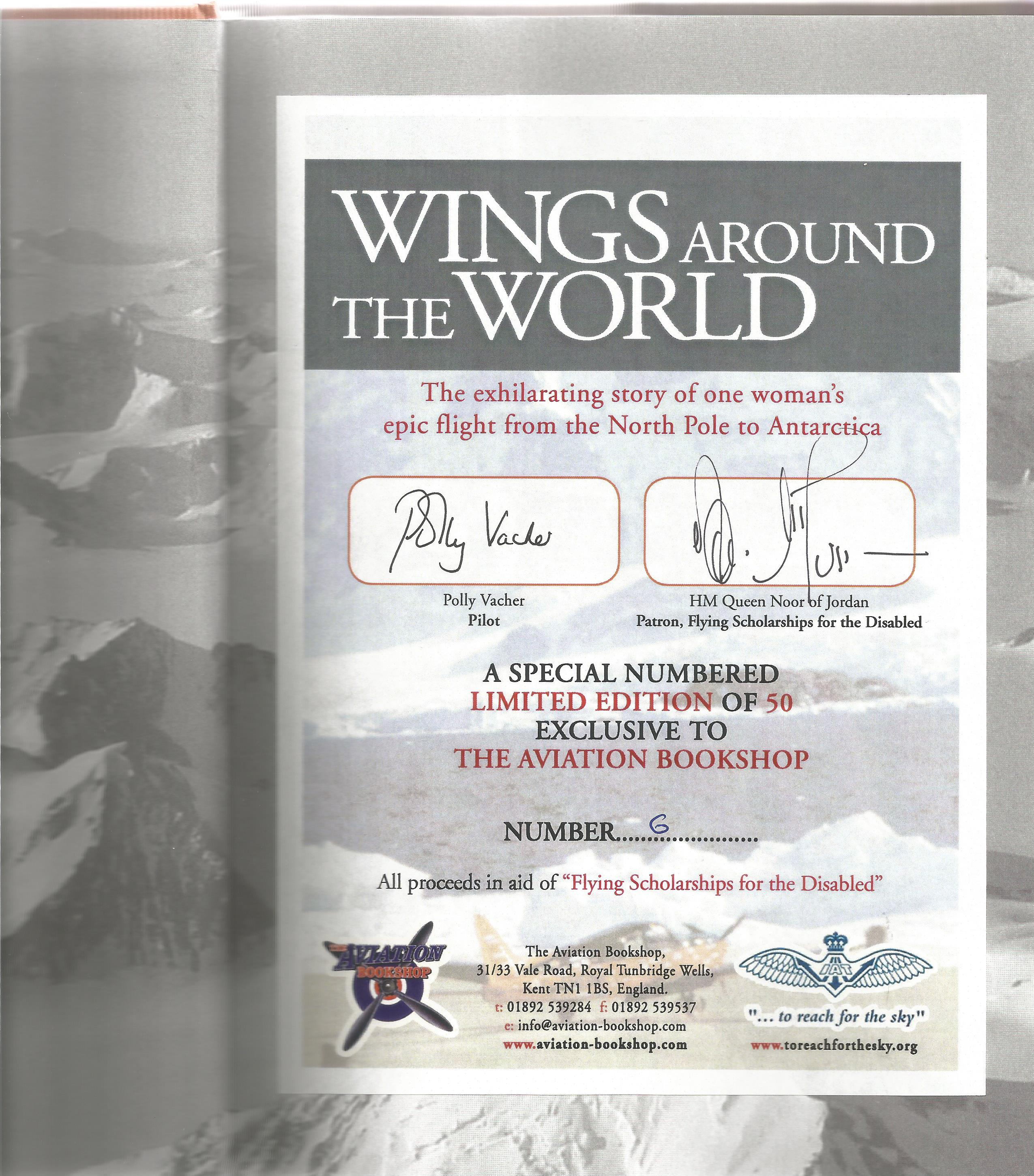 Polly Vacher. Wings Around The World. The Exhilarating story of one woman's epic flight from the - Image 2 of 3