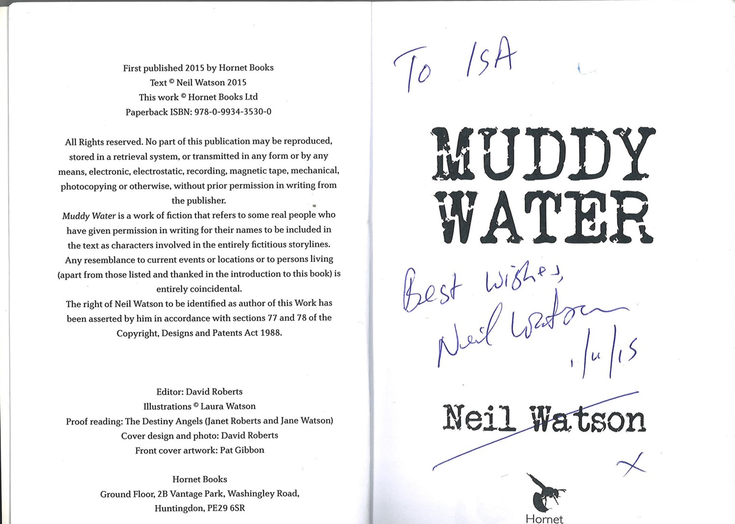5 Signed Books 3 Paperback and 2 Hardback Books, Three Hours, Silver Tide, Light Weaver, Muddy - Image 3 of 5