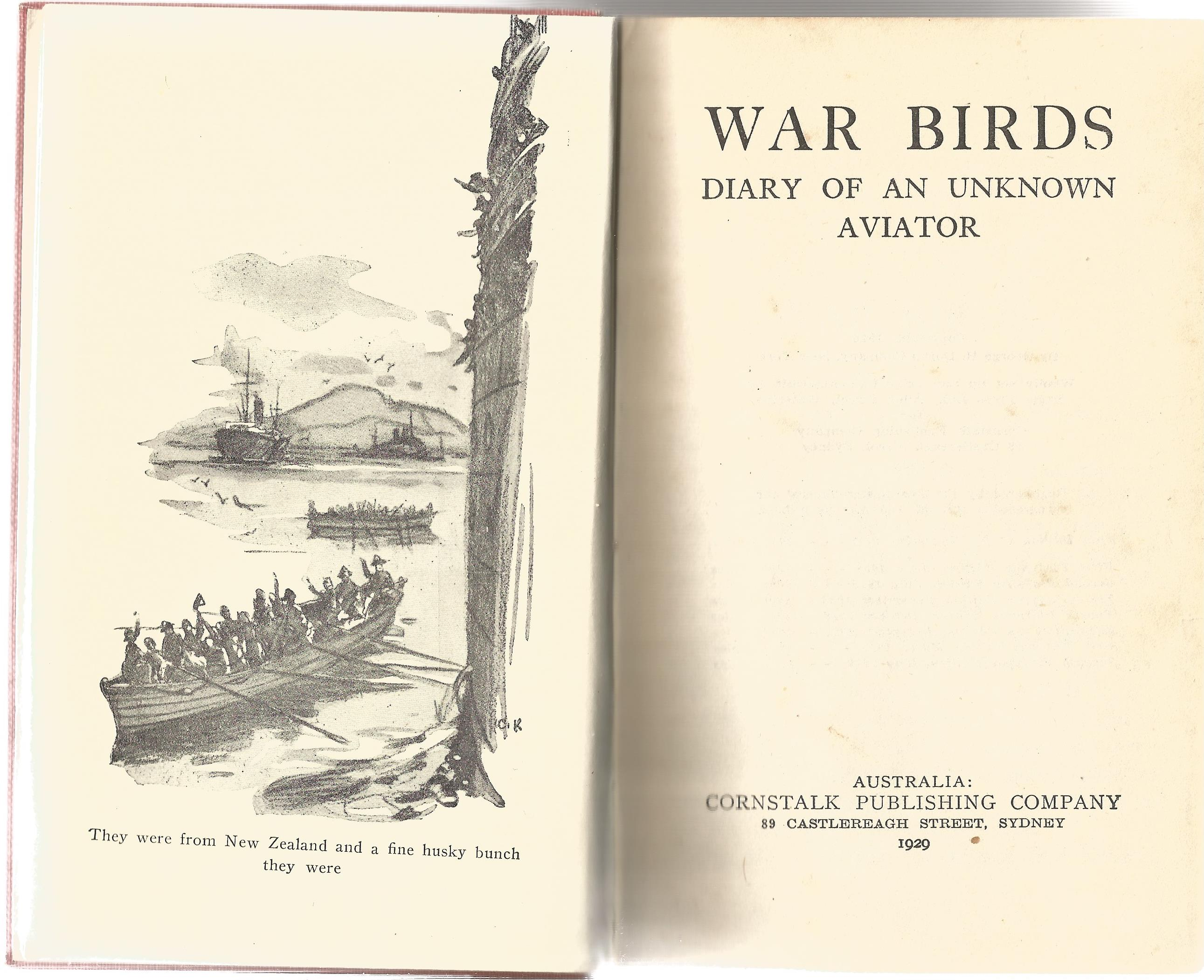 War Birds, Diary Of An Unknown Aviator. Signed by Air Vice Marshal Johnnie Johnson, with three - Image 2 of 3