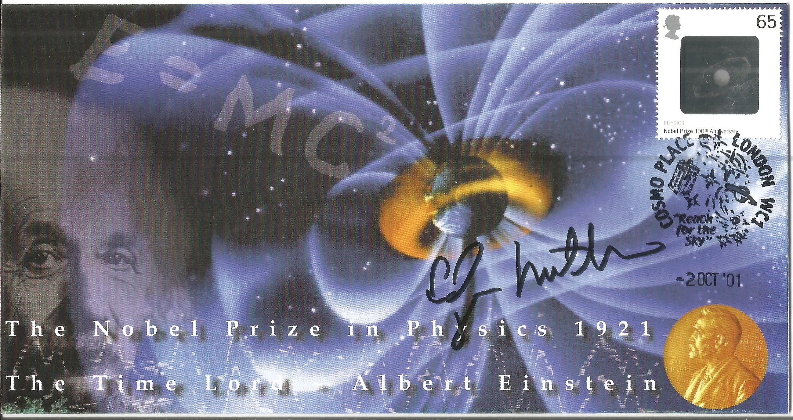 Space Moonwalker Dr Edgar Mitchell NASA Astronaut signed 2001 Physics Nobel Prize Limited Edition