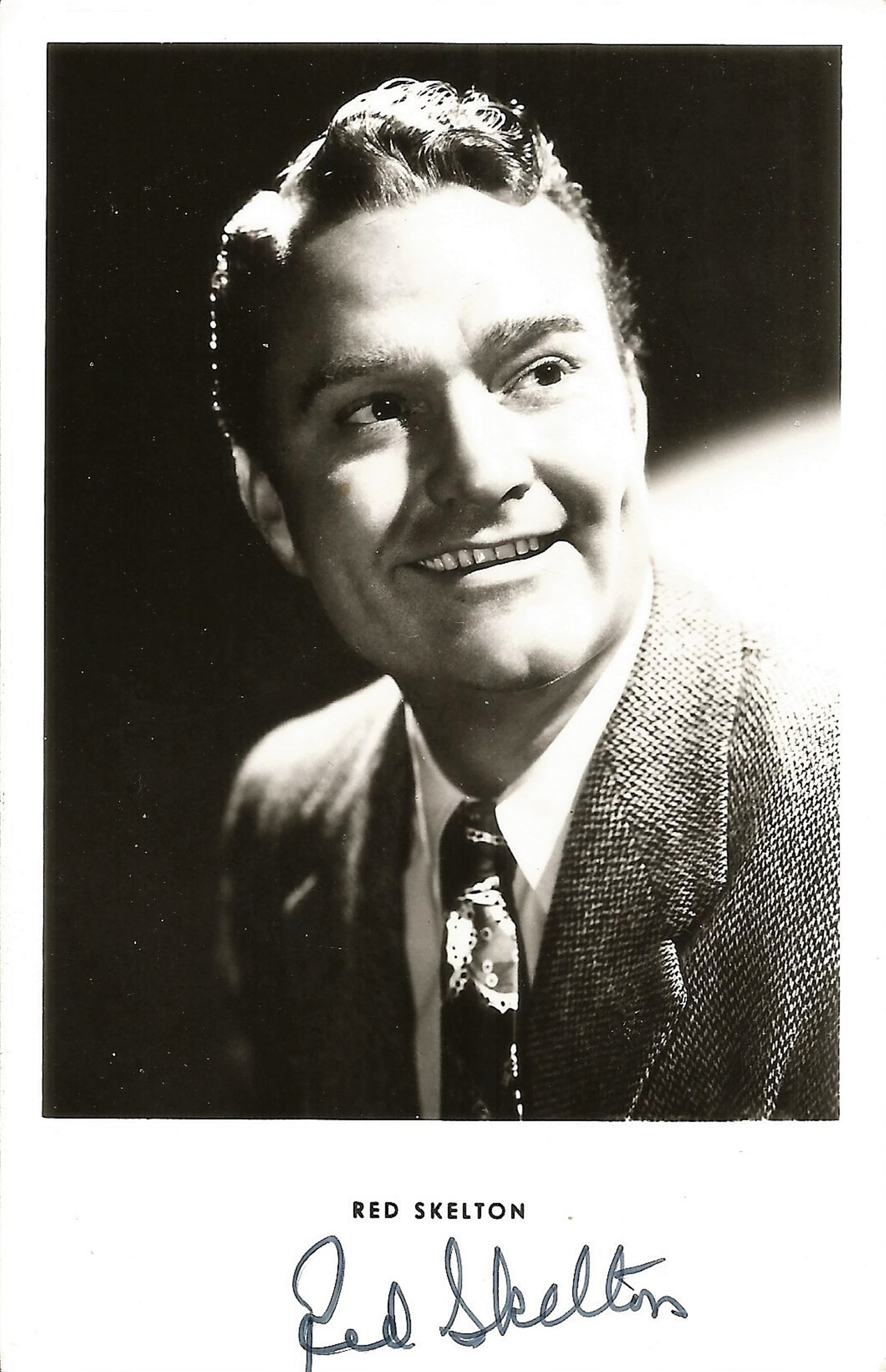 Red Skelton signed 5x3 black and white photo. Good condition. All autographs come with a Certificate