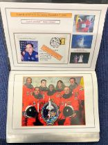 94 Space Exploration FDC with Stamps and FDI Postmarks, Housed in a Binder with Stunning NASA