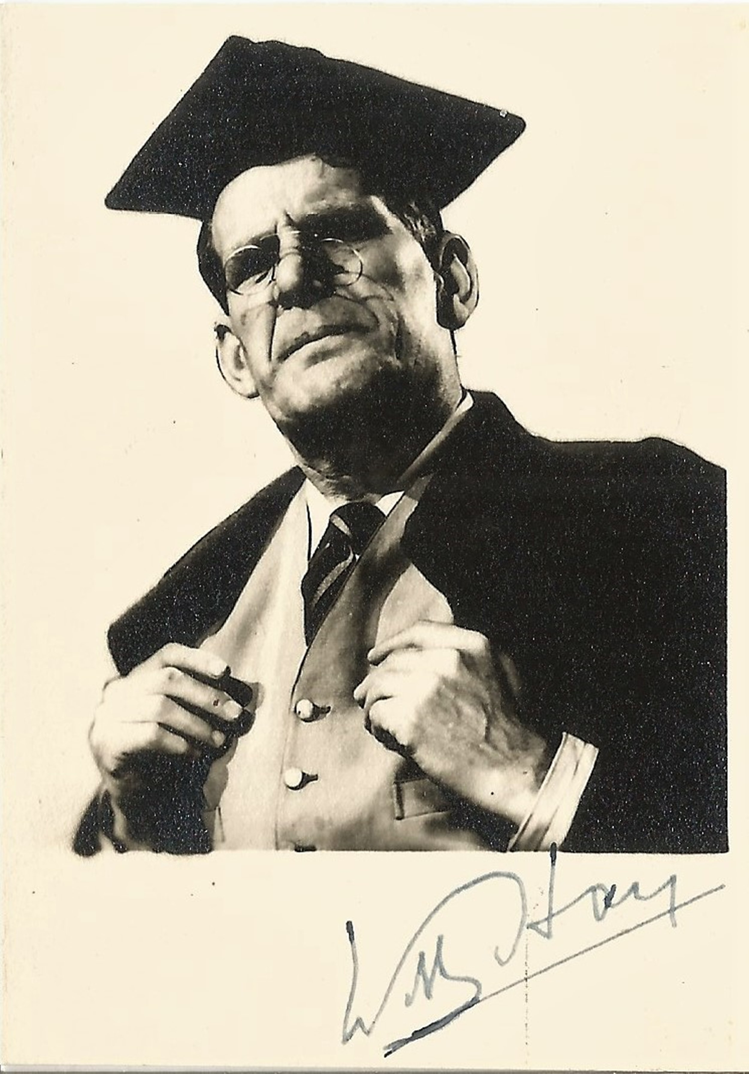 Will Hay signed 3x2 black and white photo. Good condition. All autographs come with a Certificate of
