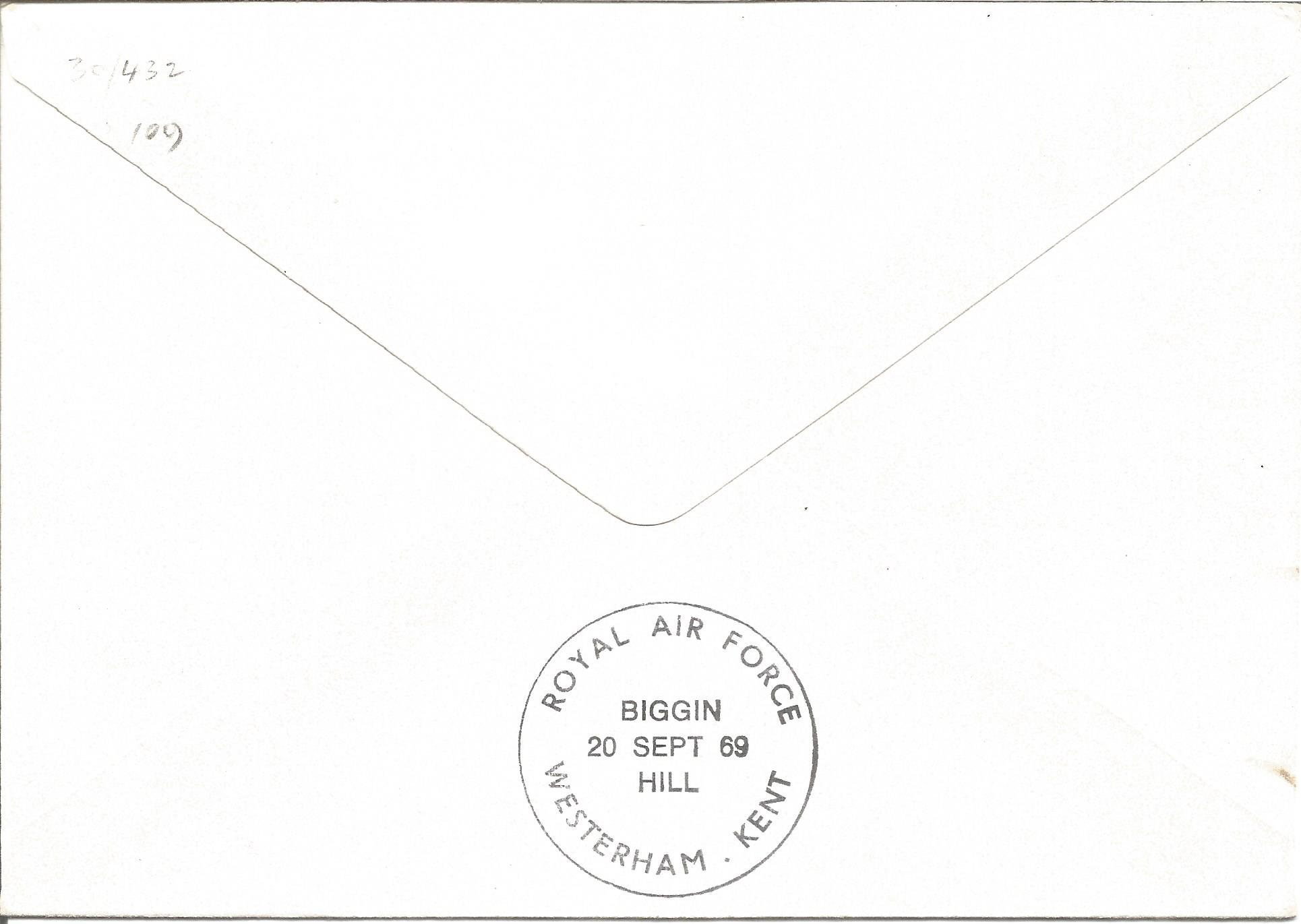 Douglas Bader signed RAF Biggin Hill Anniversary of the Battle of Britain 20th Sept 1969 FDC. - Image 2 of 2
