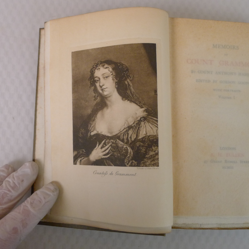 Memoirs of Count Grammont in two volumes by Count Anthony Hamilton with portraits, published by A - Image 5 of 8