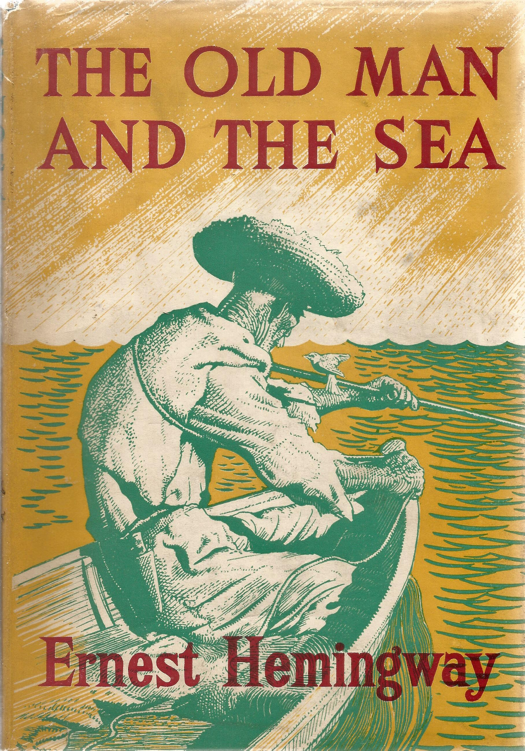 Hardback Book The Old Man and the Sea by Ernest Hemingway 1953 First Illustrated Edition