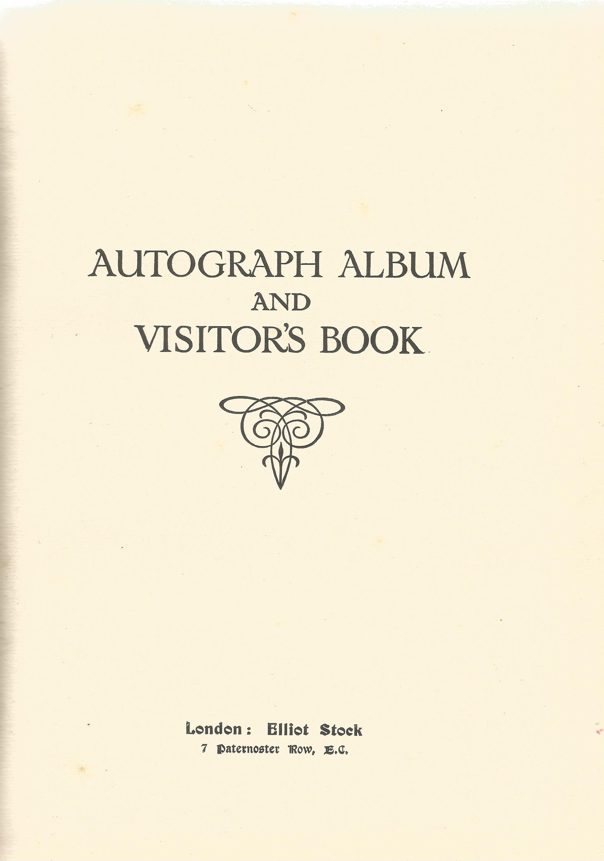 Autograph Album with Printed Pencil Drawings George & Dragon, Heraldic Emblems, Building & Masonic - Image 2 of 8