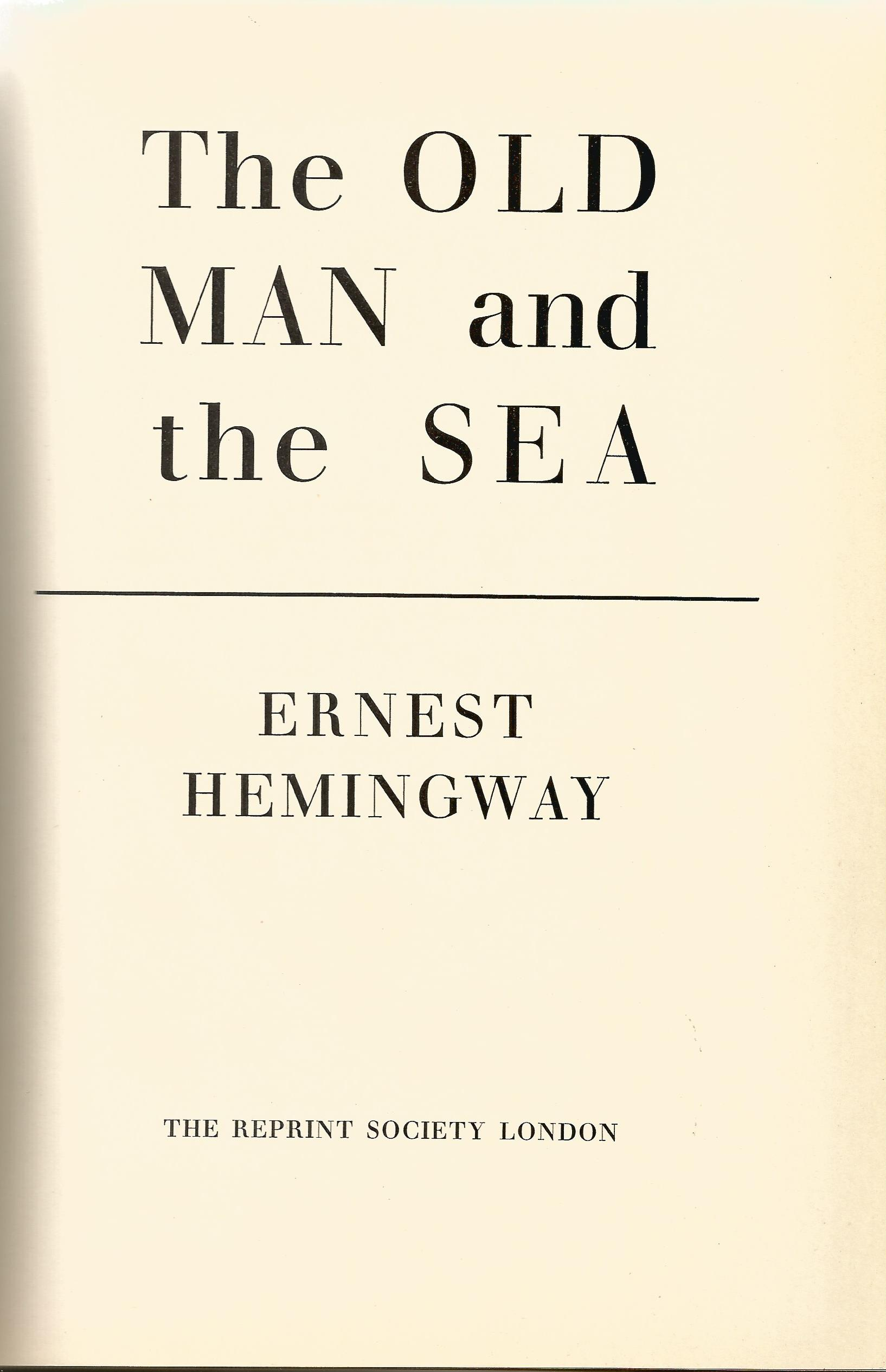 Hardback Book The Old Man and the Sea by Ernest Hemingway 1953 First Illustrated Edition - Image 2 of 3