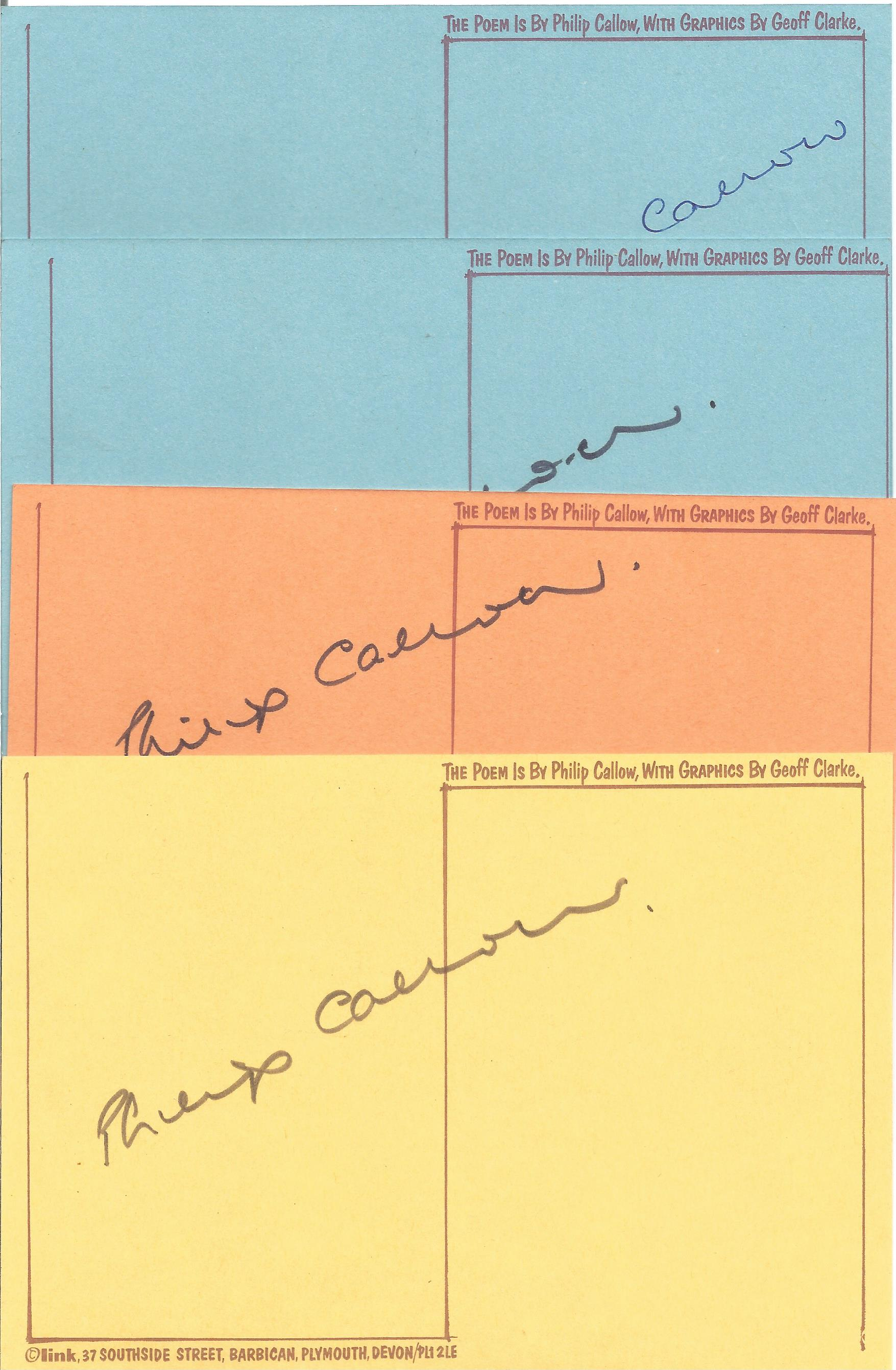 Philip Callow Hardback Book Bare Wires signed by the Author on the Title Page Includes four cards - Image 3 of 3
