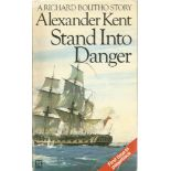 Alexander Kent Paperback Book Stand into Danger signed by the Author on the Title Page some minor