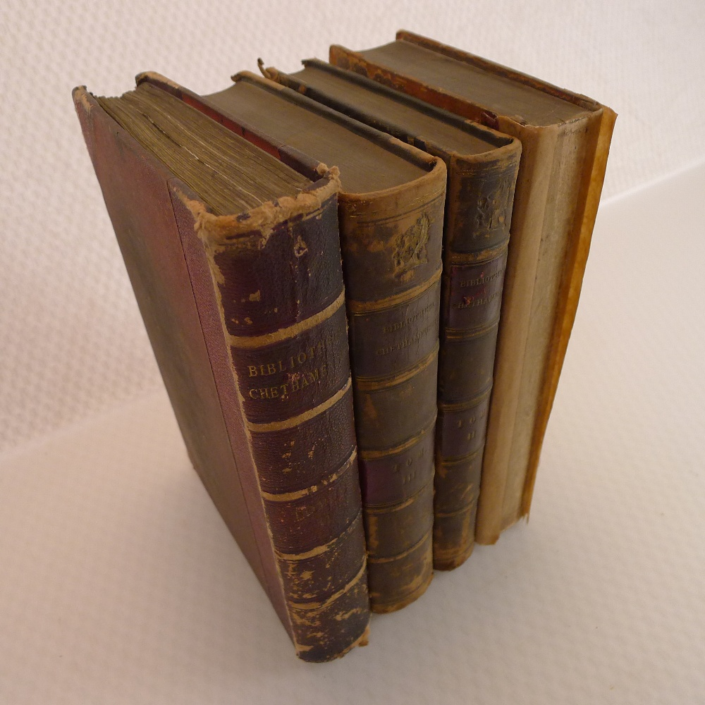 Volumes 1, 2, 3 and 6 of Bibliotheca Chethamensis (Catalogues of Books and Manuscripts) for the - Image 2 of 19