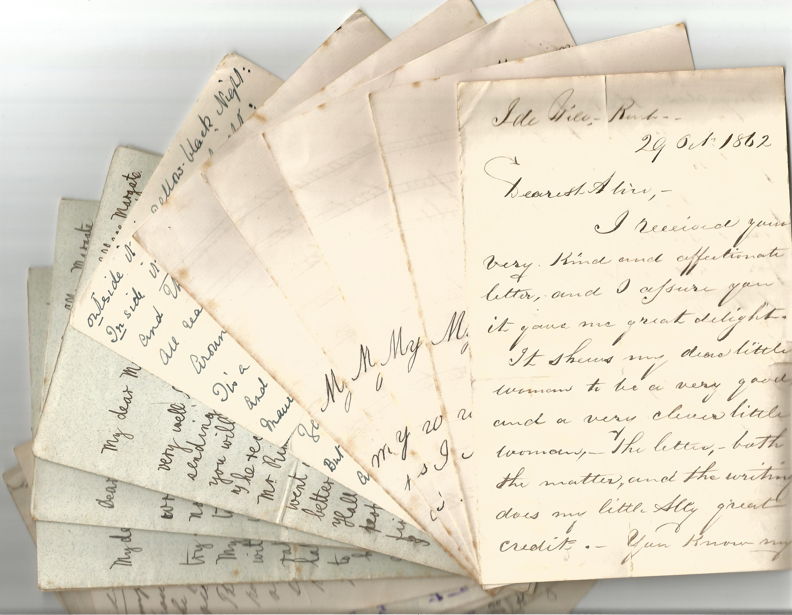 Victorian Personal Correspondence Collection various letters most to Edward and Alice Ball from - Image 3 of 5