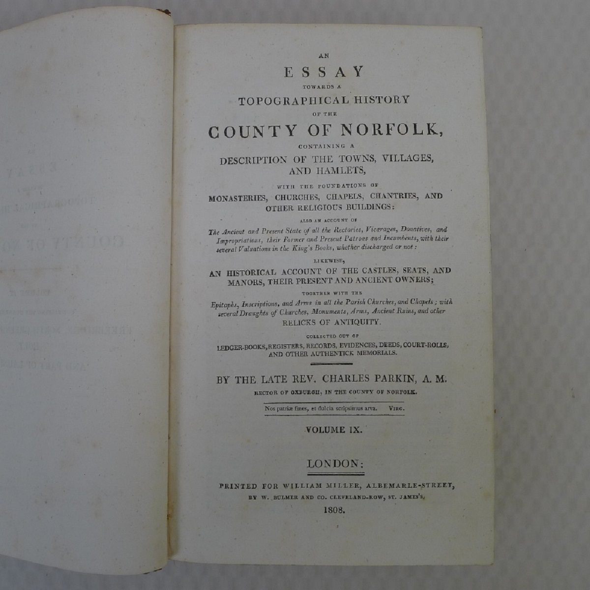All 11 volumes of An Essay Towards the Topographical History of the County of Norfolk by Thomas - Image 20 of 23