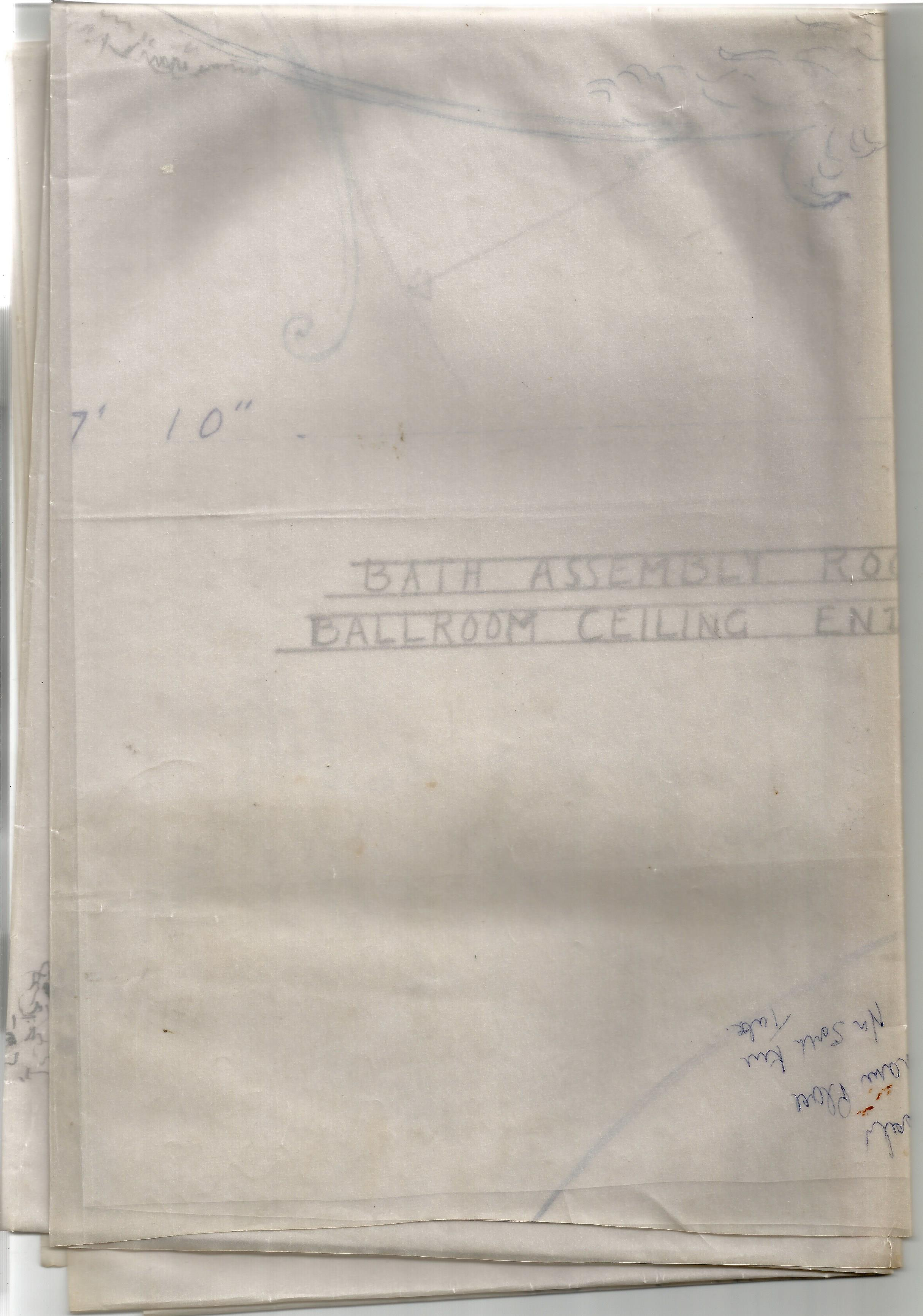Architectural Drawings & Diagrams for Alterations at Bath Assembly Rooms in the 1960s Includes - Image 3 of 16
