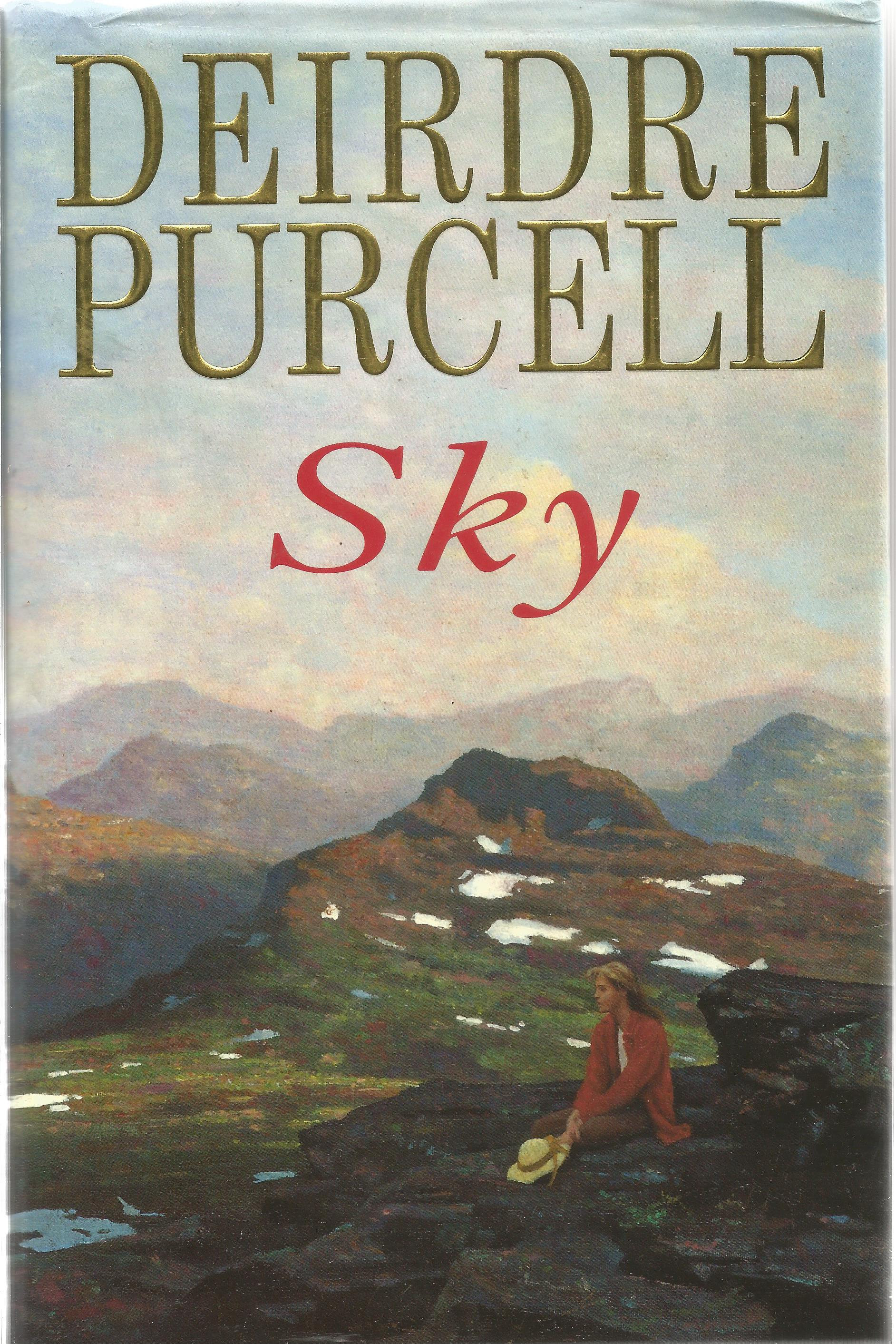 Deirdre Purcell Hardback Book Sky 1995 signed by the Author on the Title Page minor creasing at