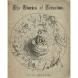Softback Book The Glories of Crinoline by A Doctor of Philosophy third Edition 1866 published by