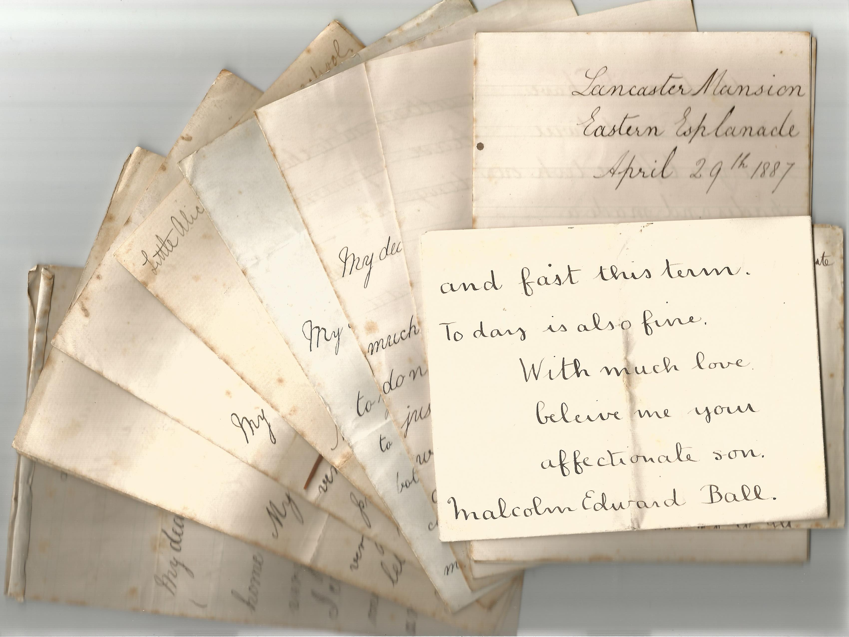 Victorian Personal Correspondence Collection various letters most to Edward and Alice Ball from - Image 5 of 5
