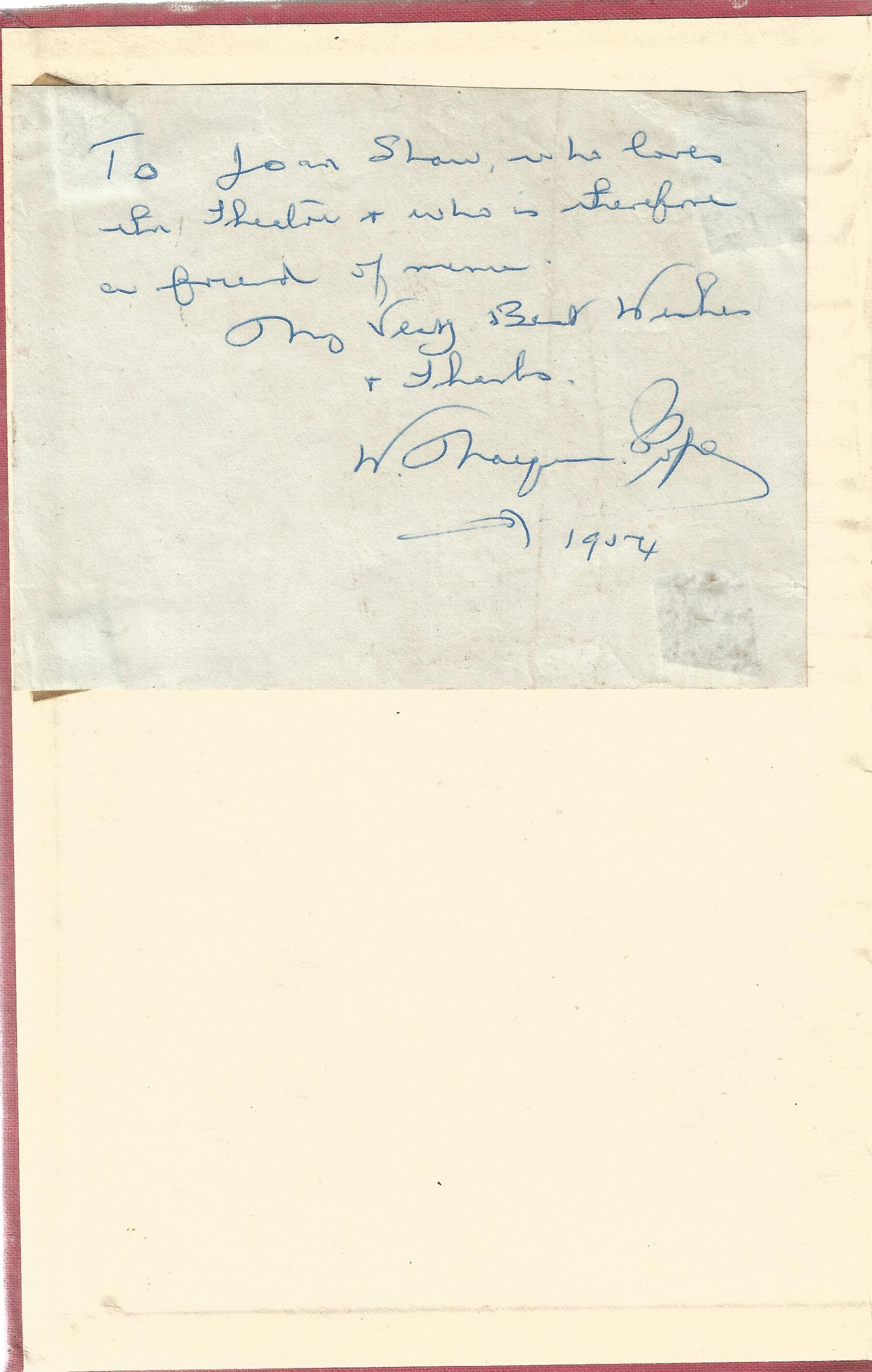 W Macqueen Pope hand written note fixed to front page of hard back book Back Numbers. No dust - Image 3 of 3